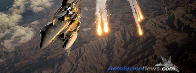 F-15E Strike Eagle Flares Hot Pic Free Aviation Wallpaper