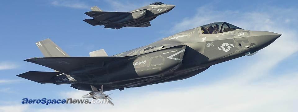 F-35B and F-35C Lightning II Joint Strike Fighters Formation Flying Picture