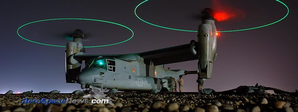 MV-22 Osprey Tiltrotor Hot Pic Picture Iraq USMC Night