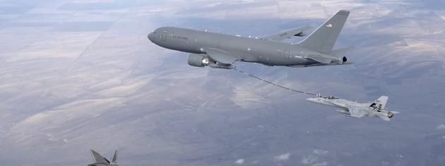 Boeing KC-46 Pegasus Tanker First F/A-18 Aerial Refueling Test [Picture]