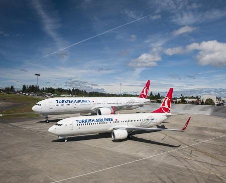 Turkish-Airlines Boeing-777 & Turkish Airlines Boeing-737