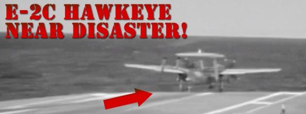 Military Videos E-2C Hawkeye Arresting Cable Wire Break Video Almost Plane Crash Video!