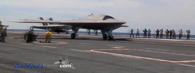 X-47B First Aircraft Carrier Launch HD Video