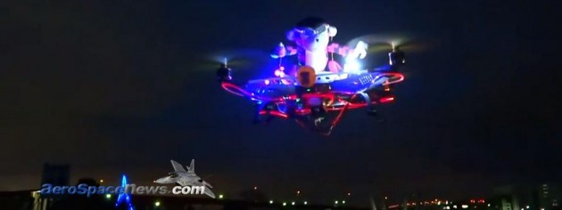 Night Monkey Attack GAUI 500X RC Helicopter Video