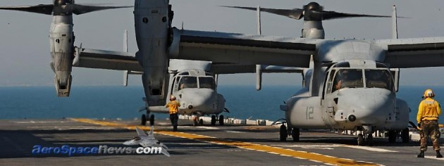 MV-22 Osprey Tiltrotor Hard Landing At Creech AFB