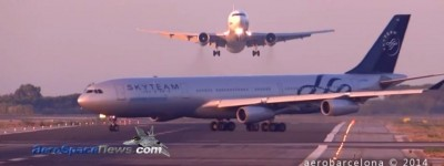 Barcelona Airport Near Miss Video