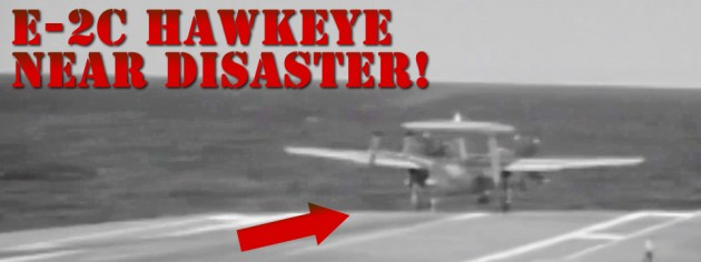 Military Videos E-2C Hawkeye Arresting Cable Wire Break Video Almost Plane Crash Video!
