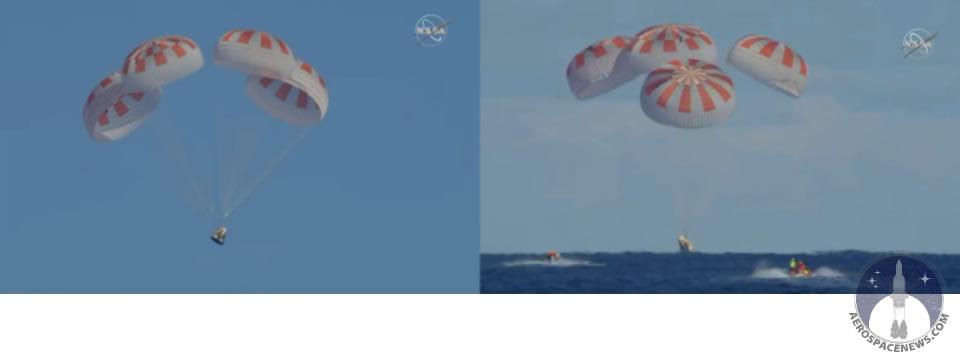 SpaceX Crew Dragon Splashdown Marks End of DM1 Flight
