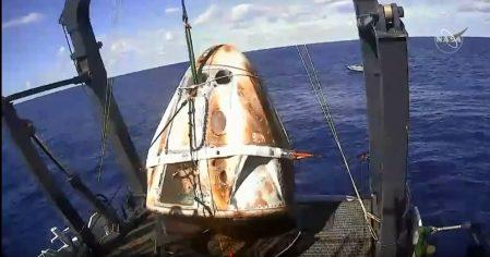 Crew Dragon Splashdown DM1 SpaceX Recovery
