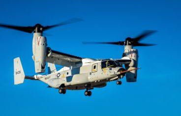 Tiltrotor Navy CMV-22B Osprey First Flight Image