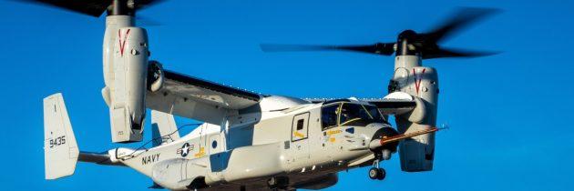 Tiltrotor Navy Variant CMV-22B Osprey Achieves First Flight