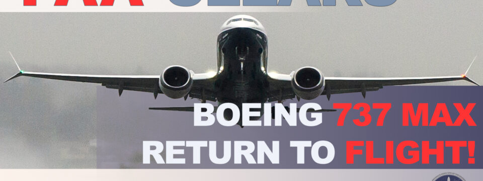 Boeing 737 MAX Cleared To Fly