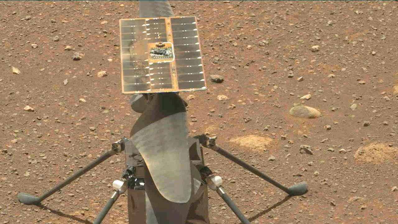 Dusty Ingenuity Mars helicopter